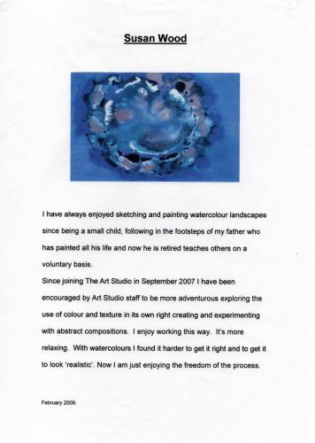 2009 artist statement susan wood