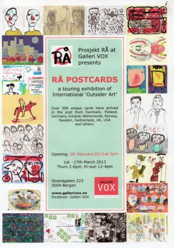 2013 outsider art postcard exhib